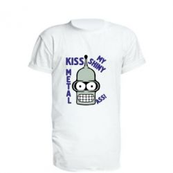 Подовжена футболка Kiss metal