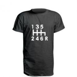 Удлиненная футболка Коробка передач - FatLine