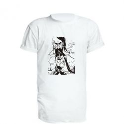 Удлиненная футболка Козачина з люлькою
