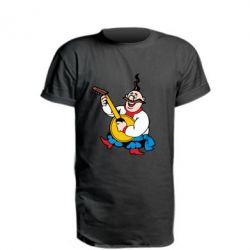 Удлиненная футболка Козак с бандурой
