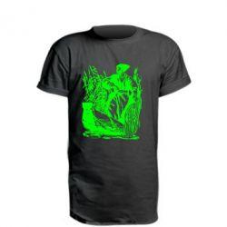 Удлиненная футболка Козак у камишу