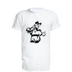 Подовжена футболка Козак з люлькою