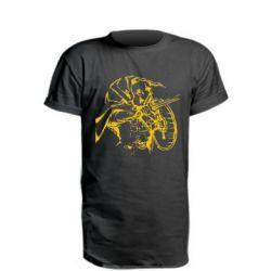 Удлиненная футболка Козак з щитом