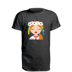 Удлиненная футболка Красива україночка - FatLine