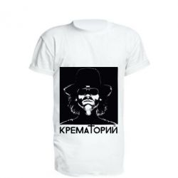 Удлиненная футболка Крематорий Летов