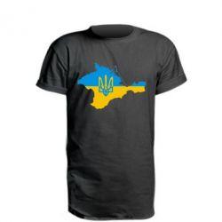 Удлиненная футболка Крым это Украина - FatLine