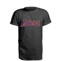Удлиненная футболка LA Lakers - FatLine