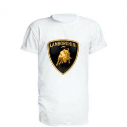 Подовжена футболка Lamborghini Logo