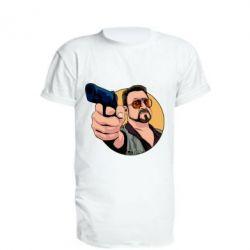 Подовжена футболка Лебовськи з пістолетом