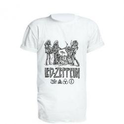 Удлиненная футболка Led-Zeppelin Art