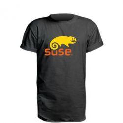 Удлиненная футболка Linux Suse