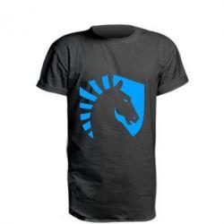 Подовжена футболка liquid logo