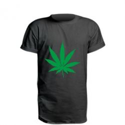 Подовжена футболка Листочок марихуани