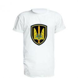 Удлиненная футболка Логотип Азов