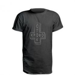 Удлиненная футболка Логотип Кровостока