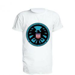 Удлиненная футболка Логотип Щита
