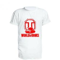 Удлиненная футболка Логотип World Of Tanks