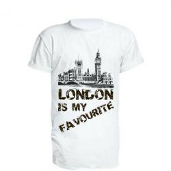 Купить Удлиненная футболка Лондон моноцвет, FatLine