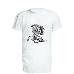 Удлиненная футболка Лошадь