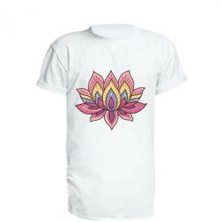 Удлиненная футболка Lotus - FatLine