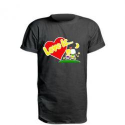 Удлиненная футболка Love is...