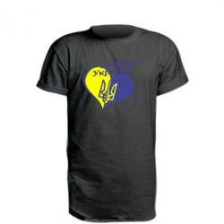 Удлиненная футболка Любіть нашу Україну