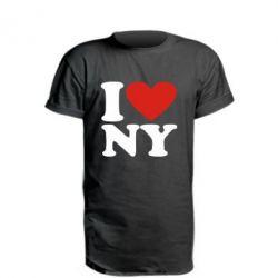 Подовжена футболка Люблю Нью Йорк