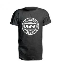 Удлиненная футболка M-1 Logo - FatLine