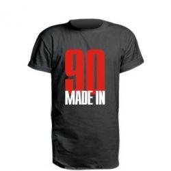 Подовжена футболка Made in 90