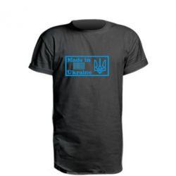 Удлиненная футболка Made in Ukraine штрих-код - FatLine
