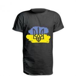 Удлиненная футболка Мальований прапор
