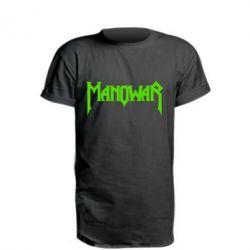 Удлиненная футболка Manowar