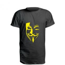 Удлиненная футболка Маска Вендетта - FatLine