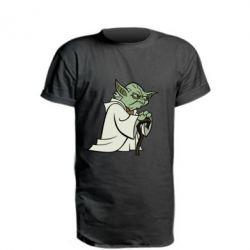 Удлиненная футболка Master Yoda
