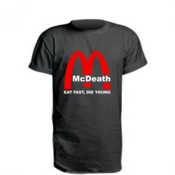 Удлиненная футболка McDeath