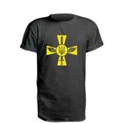 Удлиненная футболка Меч, крила та герб
