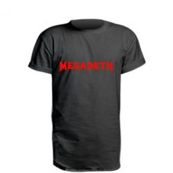 Удлиненная футболка Megadeth