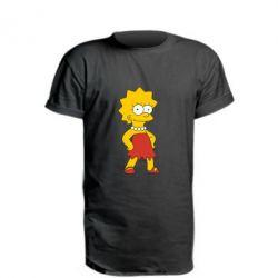 Удлиненная футболка Мэгги Симпсон - FatLine