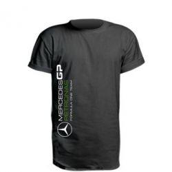 Удлиненная футболка Mercedes GP Vert