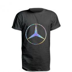 Подовжена футболка Mercedes Лого Голограма