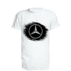 Удлиненная футболка Мерседес арт, Mercedes art