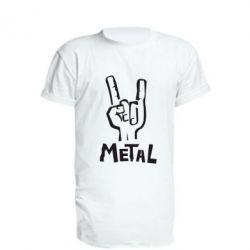 Удлиненная футболка Metal