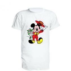 Удлиненная футболка Микки Джентельмен