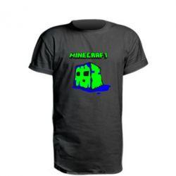 Подовжена футболка Minecraft Head