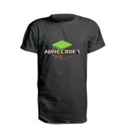 Удлиненная футболка Minecraft Land
