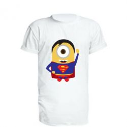 Подовжена футболка Minion Superman