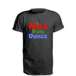 Удлиненная футболка Miss Pole Dance - FatLine