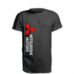 Удлиненная футболка Mitsubishi Motors лого
