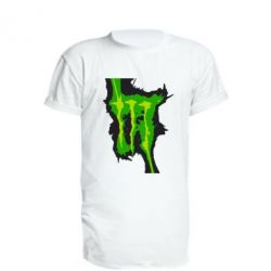 Удлиненная футболка Monster Energy green - FatLine