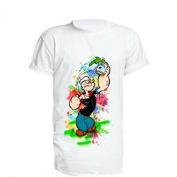 Удлиненная футболка Моряк Папай Арт
